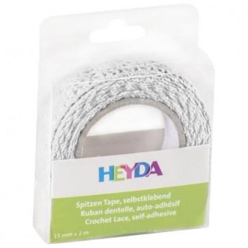 Traka Deco ljepljiva tekstil 15mmx2m Heyda 20-35845 00 bijela