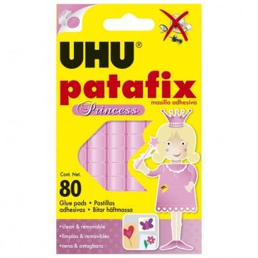 Ljepilo-jastučići 65g 80x Patafix Princess UHU L0180780 rozo blister