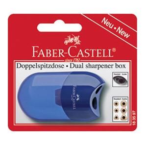Šiljilo pvc s kutijom Faber Castell 183597 sortirano blister
