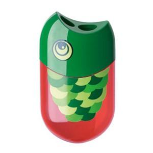 Šiljilo pvc s kutijom Riba/Papiga Faber Castell 183525 crveno/zeleno