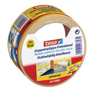 Traka ljepljiva obostrana 50mm/10m Universal Tesa 56171 bijela blister
