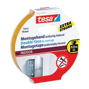 Traka ljepljiva obostrana 19mm/5m spužvasta Indoor Tesa blister
