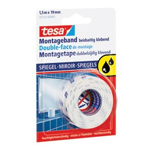 Traka ljepljiva obostrana 19mm/1,5m spužvasta Mirror Tesa blister