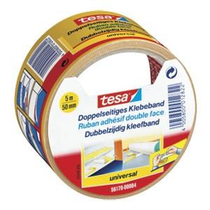 Traka ljepljiva obostrana 50mm/5m Universal Tesa 56170 bijela blister