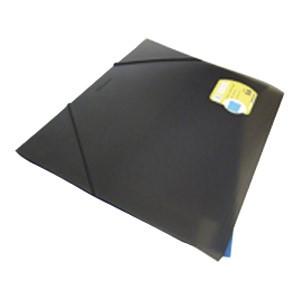 Fascikl klapa s gumicom pp A3 Foldermate 618 crni