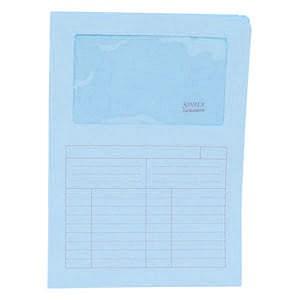 """Fascikl """"L"""" papir s prozorom A4 pk50 Sintex Blasetti F13P plavi"""
