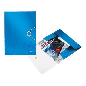 Fascikl klapa s gumicom pp A4 Wow Leitz 45990036 plavi