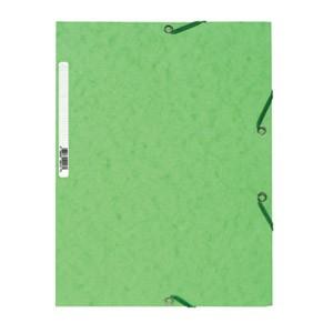 Fascikl klapa s gumicom chartreuse A4 Exacompta 55513E limeta zeleni