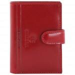 Etui za kartice/vizitke s gumbom koža Emporio Valentini 563LB01 crveni