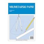 Teka-milimetarski blok A4 25 listova za tehničko crtanje Educa