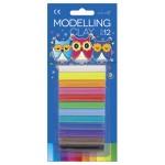Plastelin 12bojax15g pvc Color Educa blister!!