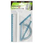 """Geometrijski set mali """"College"""" WQ08977-1B¸53020A P24/480"""
