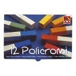 Kreda umjetnička četvrtasta u boji pk12 Policromi CMP.020GC!!