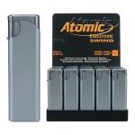 Upaljač elektronski sjajni Atomic Swing srebrni