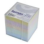 Blok kocka pvc 9,2x9,2cm s papirom u boji pastelnoj