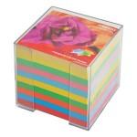 Blok kocka pvc 9,2x9,2cm+ s papirom u boji intenzivnoj
