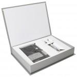 Set poklon notes Lanybook Crystal Star crte+olovka kemijska N`ice Faber Castell bijela
