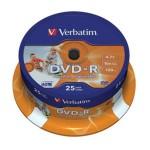 DVD-R 4,7/120 16x spindl printable pk25 Verbatim 43538