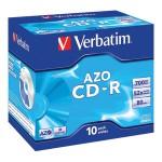 CD-R 700/80 52x JC AZO Crystal Verbatim 43327