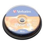 DVD-R 4,7/120 16x spindl Mat Silver pk10 Verbatim 43523