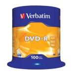 DVD-R 4,7/120 16x spindl Mat Silver pk100 Verbatim 43549