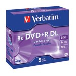 DVD+R DL 8,5/240 8x JC Mat Silver Verbatim 43541