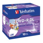 DVD+R DL 8,5/240 8x JC printable Verbatim 43665