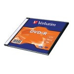 DVD-R 4,7/120 16x slim Mat Silver Verbatim 43547