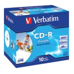 CD-R 700/80 52x JC AZO printable Verbatim 43325