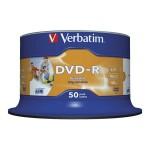 DVD-R 4,7/120 16x spindl printable pk50 Verbatim 43649