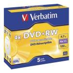 DVD+RW 4,7/120 4x JC Mat Silver Verbatim 43229