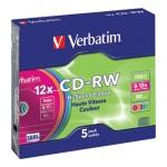 CD-RW 700/80  8x-12x slim pk5 Verbatim 43167 sortirano