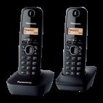 PANASONIC telefon bežični KX-TG1612FXH crni, 2 sluš